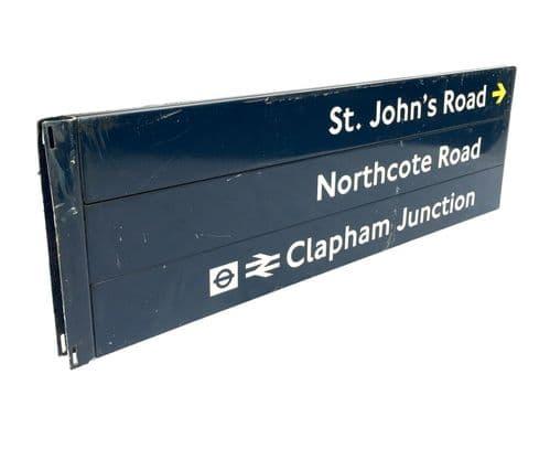 Vintage Salvage - London Road Sign / TFL / Underground / Clapham Junction